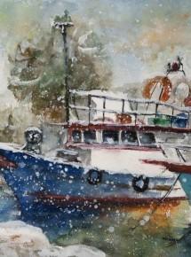 Snow & boats
