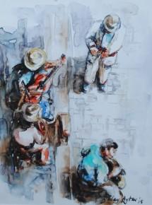 4 Müzisyen (yukarıdan)